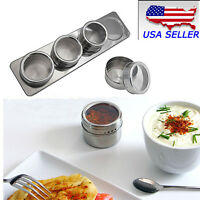 New Home Magnetic Stainless Steel Spice Storage Rack Kitchen Tin Containers