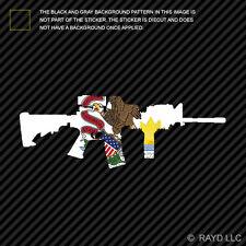 Illinois State Shape AR15 Sticker Decal AR-15 M16 M-16 IL