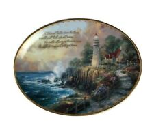 """Collectors Plate Thomas Kinkade's Guiding Lights """"The Light of Peace"""" 2145A Oval"""