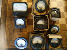 Lot Of 9 Berlington Simpson Instrument Meter Gauges Amperes Milliamperes Weston