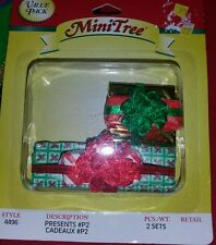 Westrim Beaded Miniature Christmas Tree Miniature Under tree Presents #4496