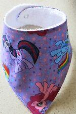 Handmade bandana bib-   My  Little Pony on lilac