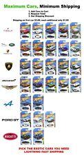 2020 -19 Hot Wheels You Pick Aston Martin,Lambo,McLaren,Jagu ar,Range, Exotics