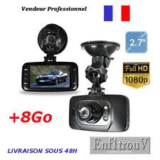 """Caméra de Voiture +8Go Dash Cam FULL HD 1080P 2.7"""" HDMI Vision Nocturne GS8000L"""