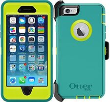 NEW OtterBox Defender iPhone 6 / 6S Case & Holster Light Blue/Lime Green Cover