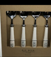 Rae Dunn YUM ENJOY DELISH TASTE SAVOR Teaspoon Silverware Flatware Utensil Set