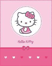 Tappeti di panno COPERTA PLAID HELLO KITTY Mathilda 110 x 140 NUOVO