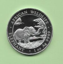 "2019 Silver African Wildlife "" ELEPHANT "" Somali Republic Coin"