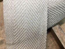 10.2cm 100mm Natürlich / Beige Netz Teppich Bindung Rand Treppen Tracht Prügel
