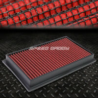 FOR NISSAN/INFINITI/SCION RED REUSABLE/WASHABLE DROP IN AIR FILTER PANEL