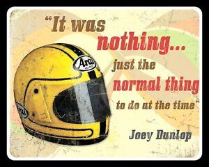 JOEY DUNLOP MOTORCYCLE MOTORBIKE TT CHAMPION ISLE OF MAN METAL PLAQUE SIGN 521