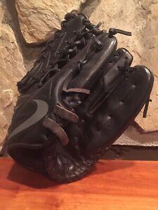 """Nike MVP Edge 12"""" Youth Baseball Glove BF1727 Black/Grey Fits Left Hand"""