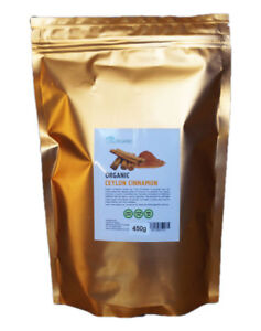 "Organic Ceylon Cinnamon Cinnamomum Verum ""True"" Cinnamon Powder 450g"