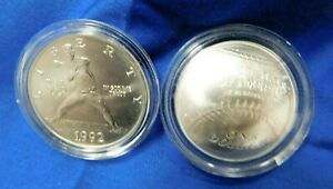 Silver Dollar Commemoratives 2 Baseball 1992 Olympics, 2014 Baseball Hall of Fam