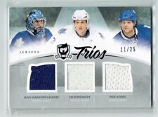 10-11 UD The Cup Trios  J-S Giguere-D Phaneuf--P Kessel  /25  Jerseys  CREASES