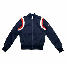 Fila Soft Shell Jacket | Vintage 80s Retro Sportswear Track Top Navy VTG
