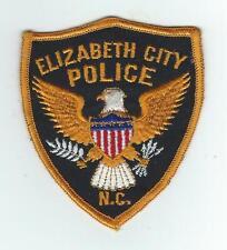 VINTAGE ELIZABETH CITY, NORTH CAROLINA  POLICE (CHEESE CLOTH BACK) patch