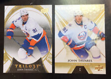 2 John Tavares UD Trilogy Cards - 2016-17 #5 & 2015-16 #55 - Toronto Maple Leafs