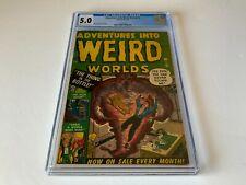 ADVENTURES INTO WEIRD WORLDS 2 CGC 3.5 PRE CODE HORROR WORLD MAD ATLAS COMICS