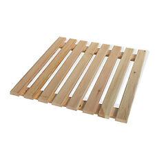 Pedana antiscivolo 55x68 cm in legno con doghe per piatto doccia rettangolare