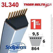 Courroie tondeuse 3L340 Tiger Belts. 9,5 mm x 864 m