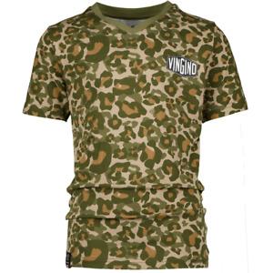 VINGINO Jungen T-Shirt B-123-2 CAMOLE V-Neck multicolor army green Gr.110-176