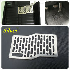 Car Floor Heel Plate Pedal Carpet Pad Plate Pedal Foot Rest Mat Stainless Steel