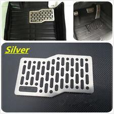 Car Floor Heel Plate Pedal Carpet Pad Plate Pedal Foot Rest Mat Stainless Steel