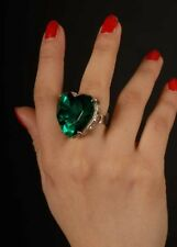 Medieval Fancy Dress Large Green Jewel Ring ASSORTED SHAPE