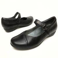 ✅❤️✅ @@ Dansko Womens Black Distressed Leather Mary Jane Heels 41 10-10.5 Clogs