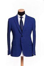 BELVEST Hand Made in Italy Jacket Blazer 2Btn Cotton Twill Blue 46 US 56 EU 7 R