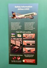 FRONTIER AIRLINES SAFETY CARD--AIRBUS 320-- MARCH 2018