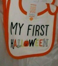 nwt-Carter's Baby Bib-My First Halloween