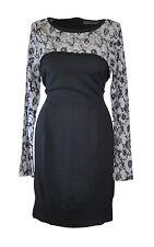 ** Mint Velvet ** Grey Wool Dress ** UK 14 ** Lace Detail ** Wool Blend **