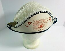 Vintage EARLY International Order Odd Fellows Paper Folding Bi-Corn Parade Hat