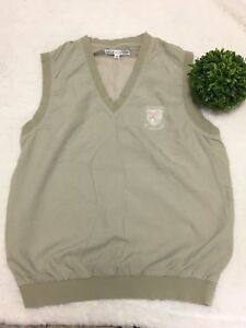 Lyle & Scott small tan golf vest-Old Course St Andrews Men's FREE SHIPPING