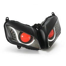 KT LED DRL HID Headlight Assembly for Honda CBR600RR 2007 2008 09 10 11 2012 Red