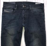 Mens DIESEL Tepphar Jeans W30 L32 Blue Slim Carrot Wash 0806Q_STRETCH