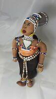 """African Zulu Beaded Fertility Doll Circa 1950's 15"""" tall"""