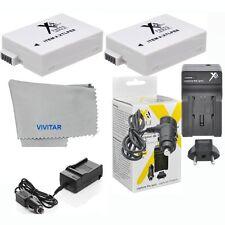 Battery for Canon Rebel T5i T4i T3i T2i Camera / 2 Pcs LP-E8 1750MAH + Charger