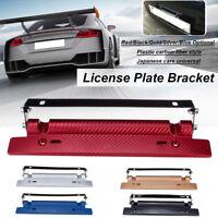 Carbon Fiber Universal Car License Number Plate Frame Holder Bracket  /