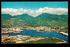 c1958 Nani Li'i overview Harbor Honolulu Hawaii postcard