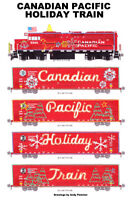 "Canadian Pacific Holiday Train (US Train) 11""x17"" Poster by Andy Fletcher signed"