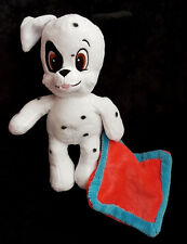 Doudou Peluche Chien Dalmatien blanc noir mouchoir rouge Nicotoy Disney 25 cm