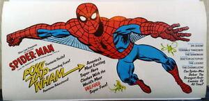 "Rare 1977 AMAZING SPIDER-MAN POCKET BOOK PROMOTIONAL POSTER 12""x25"" Marvelmania"