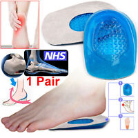Silicone Heel Support Shoe Pads Gel Orthotic Plantar Care Insert Insoles Cushion