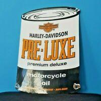 VINTAGE HARLEY DAVIDSON PORCELAIN GAS MOTORCYCLES SERVICE MOTOR OIL QUART SIGN