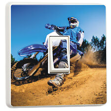 Dirt Bike racer motorbike photo light switch sticker (16711228) Motocross