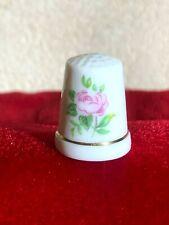 Vintage Rose Porcelain Thimble