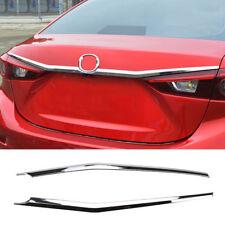 For Mazda 3 Axela Sedan Chrome Rear Trunk Lid Cover Trim Tailgate Molding Strips